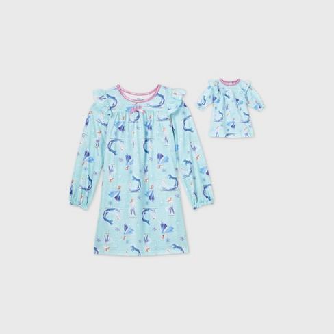 Girls' Disney Frozen Doll & Me Nightgown Set - Blue - Disney Store - image 1 of 2