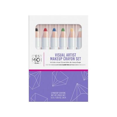 C'est Moi Visual Artist Makeup Crayon Set - 6ct