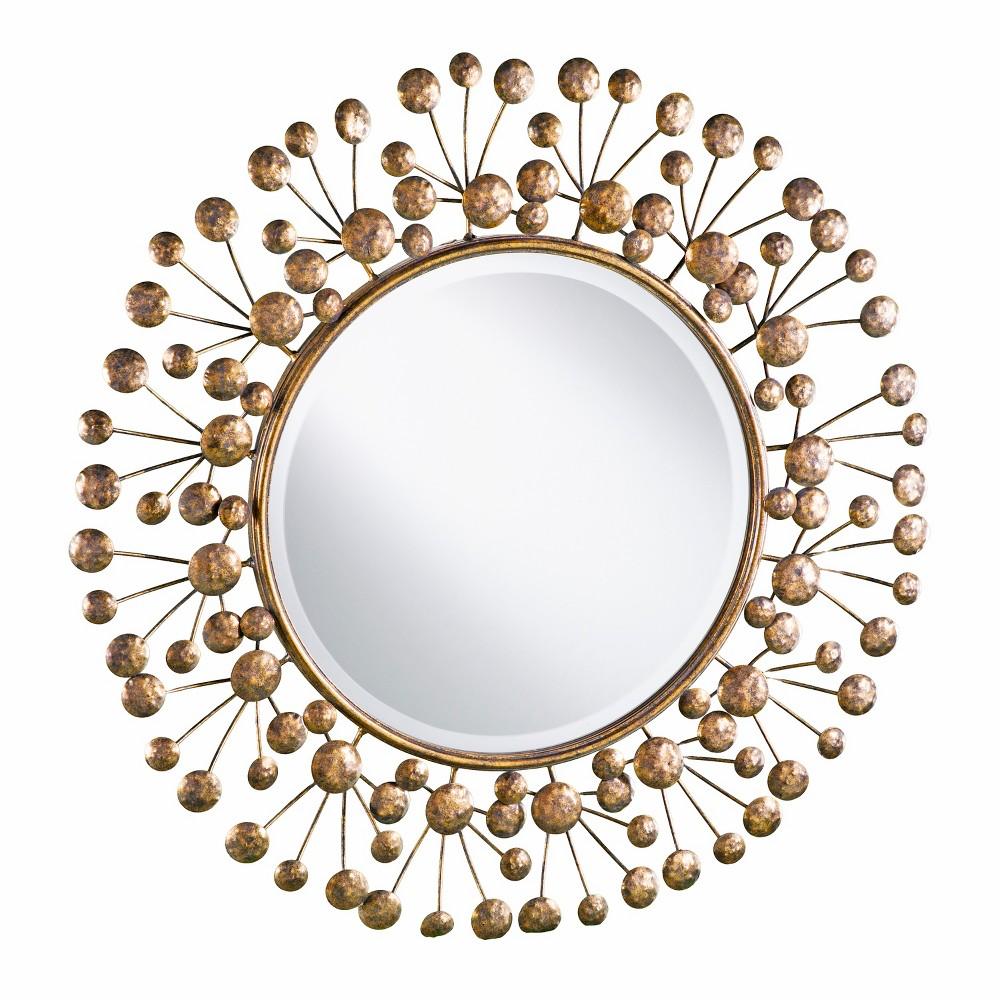 "Image of ""Aiden Lane 36.75""""x36.75"""" Taren Oversized Decorative Round Mirror Bronze"""