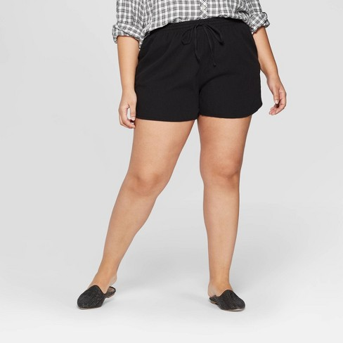 e7de41daf1db2 Women s Plus Size Mid-Rise Pull On Shorts - Universal Thread™ Black ...