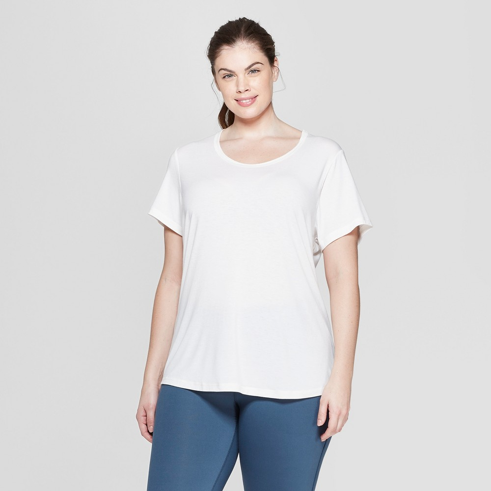 Women's Plus Size Short Sleeve Draped T-Shirt - C9 Champion Pale Petal Pink 1X