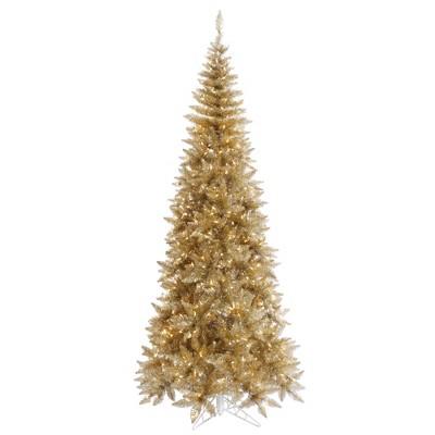 Vickerman Champagne Tinsel Fir Artificial Christmas Tree