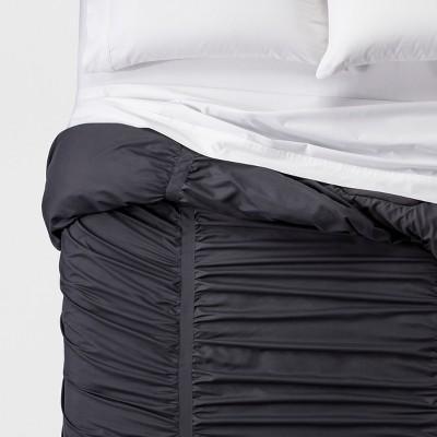 Flat Gray Solid Texture Comforters (Full/Queen)- Room Essentials™