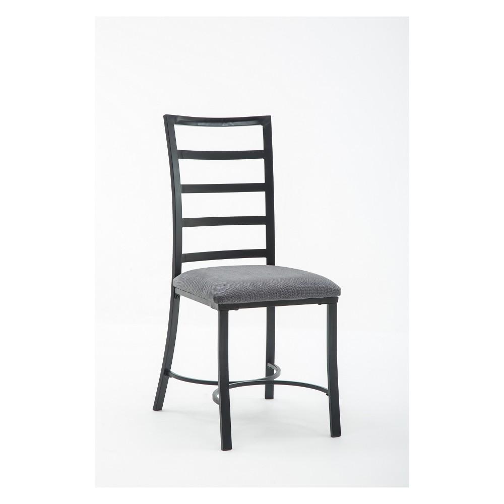 Bastian Dining Chair Gray & Black (Set of 4) - Boraam