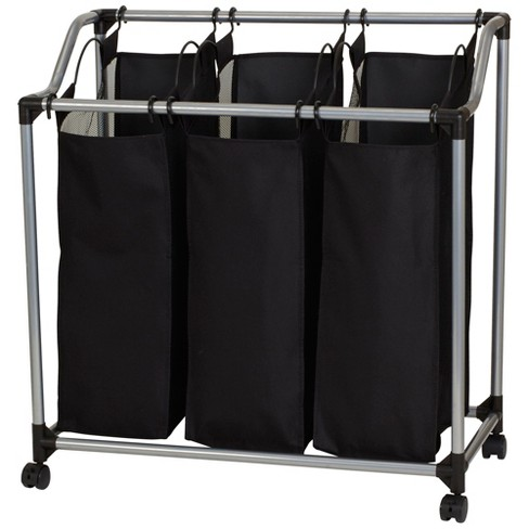 Household Essentials 3-Bag Sorter with Vented Bags, Black - image 1 of 4