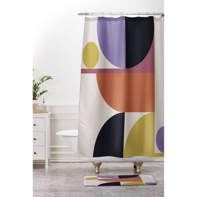 Color Poems Mid Century Modern Abstract Shower Curtain - Deny Designs
