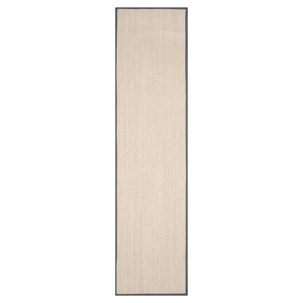 Natural Fiber Rug - Marble/Dark Gray - (2'6x12') - Safavieh