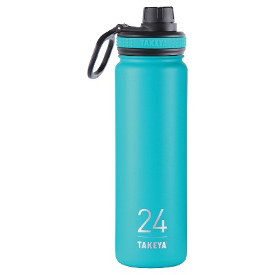 Takeya Originals 24oz Insulated Stainless Steel Water Bottle with Spout Lid 24oz - Teal