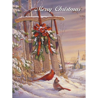 18ct Wintertime Cardinal Holiday Boxed Cards