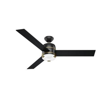 "60"" Bureau Ceiling Fan with Remote Black (Includes LED Light Bulb) - Hunter Fan"