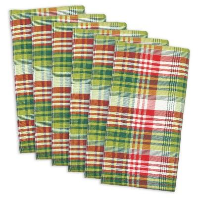 6pk Green Holly Jolly Napkin - Design Imports