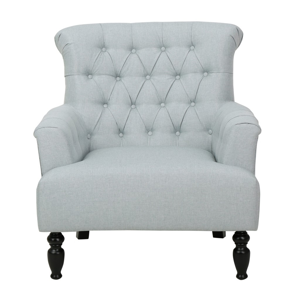 Bernstein Fabric Club Chair - Christopher Knight Home, Light Gray