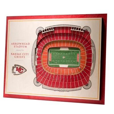 NFL Kansas City Chiefs 5-Layer StadiumViews 3D Wall Art