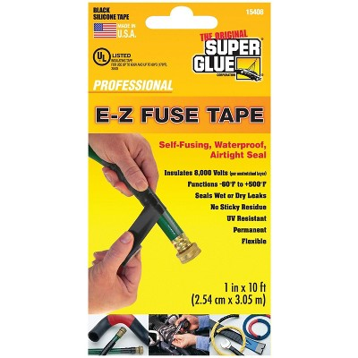 Super Glue 10' E-Z Fuse Tape Black SGC1540812