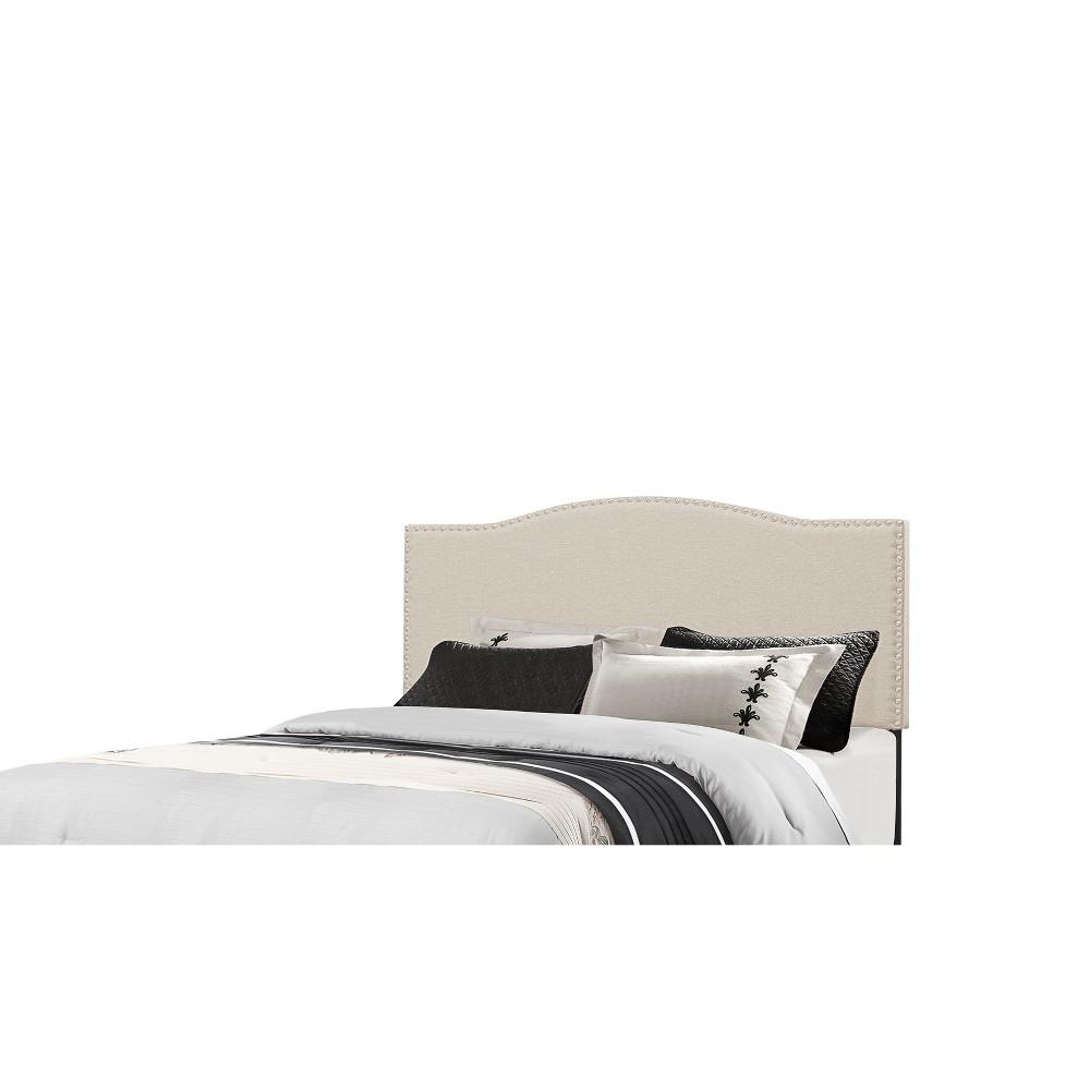 Full/Queen Kiley Metal Headboard Frame Included Linen - Hillsdale Furniture