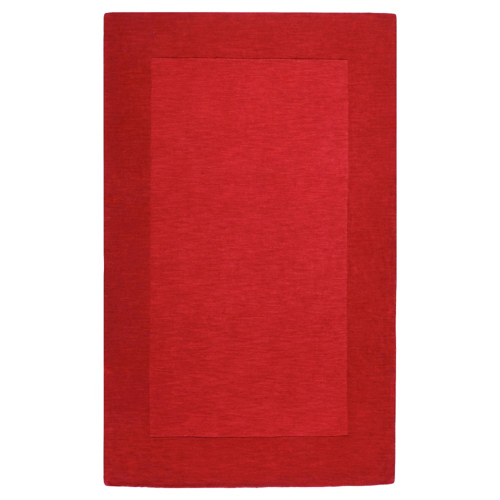 Red Solid Loomed Area Rug - (12'X15') - Surya, Dark Red