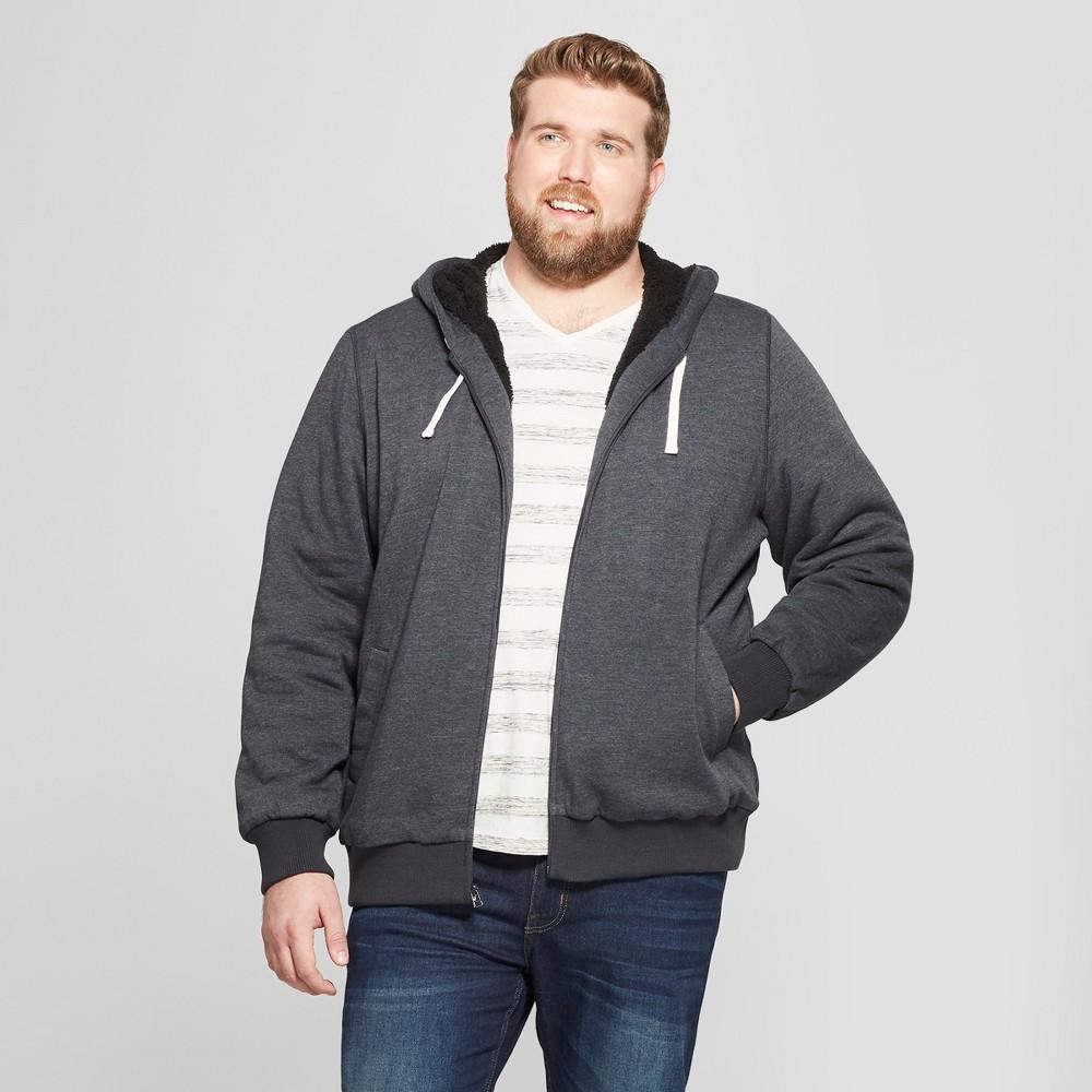 Men's Big & Tall Sherpa Fleece Jacket - Goodfellow & Co Black 5XBT
