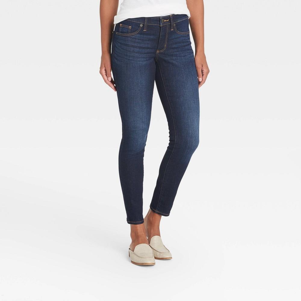 Women 39 S Mid Rise Skinny Jeans Universal Thread 8482 Medium Denim Wash 0