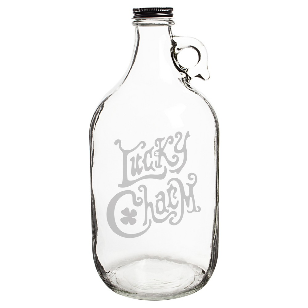 Image of St. Pat's Lucky Charm Beer Growler, Clear