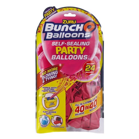 24ct Self Sealing Party Balloons Refill Pack Pink - image 1 of 4