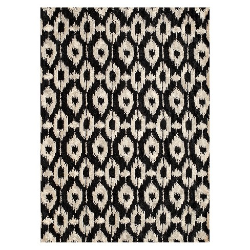 Sofia Area Rug Black White