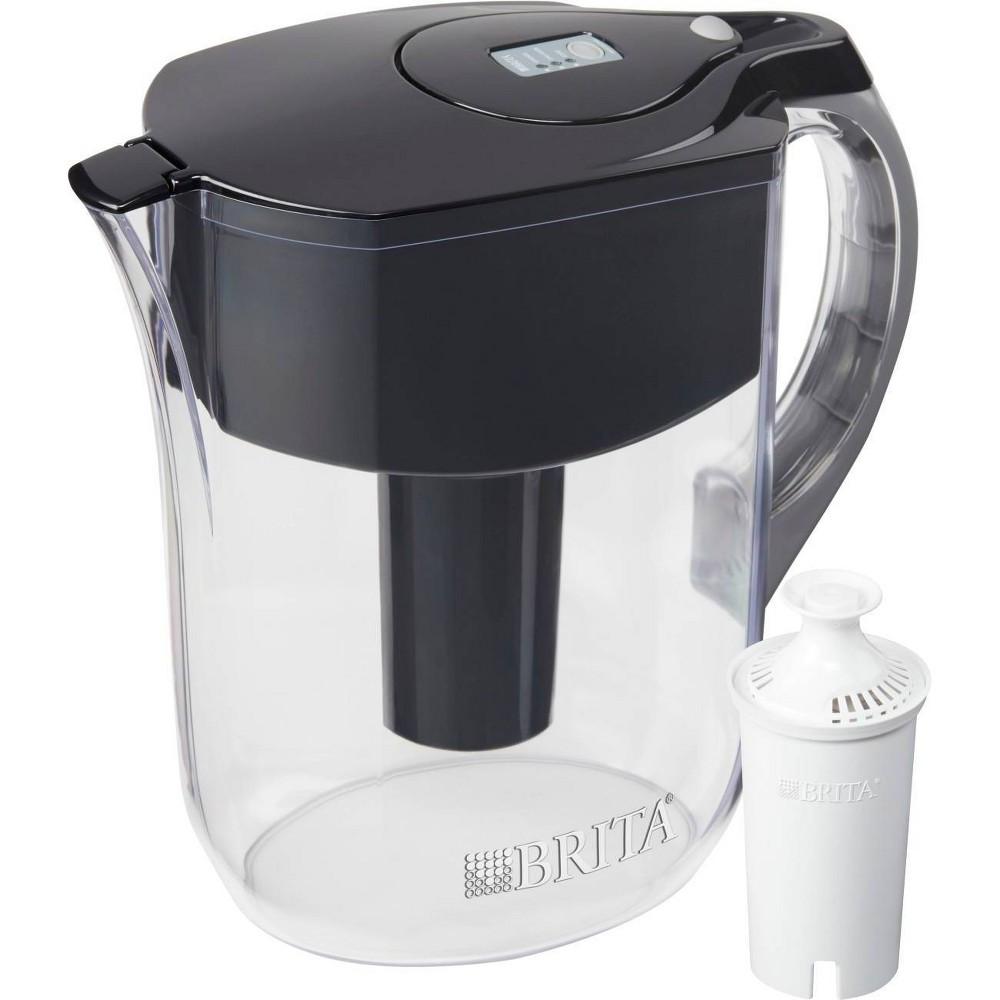 Brita Water Filter 10 Cup Grand Water Pitcher Dispenser Black