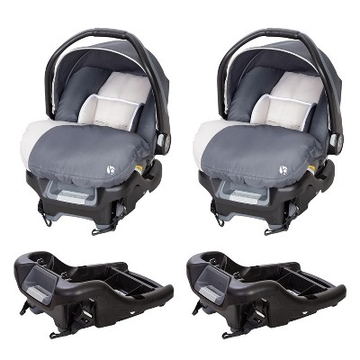 Baby Trend Ally Adjustable 35 Pound Infant Baby Car Seat and Ally 35 Versatile Ultra Safe 4 Position Infant Car Seat Bases, Gray Magnolia (2 Pack)