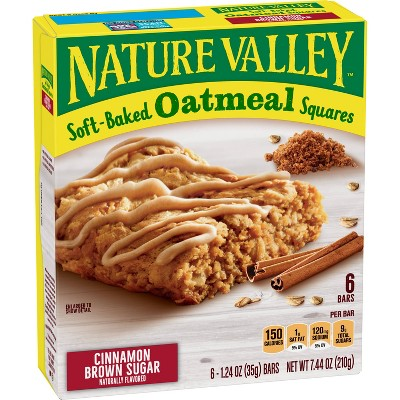 Nature Valley Cinnamon Brown Sugar Soft-Baked Oatmeal Squares - 7.44oz/6ct