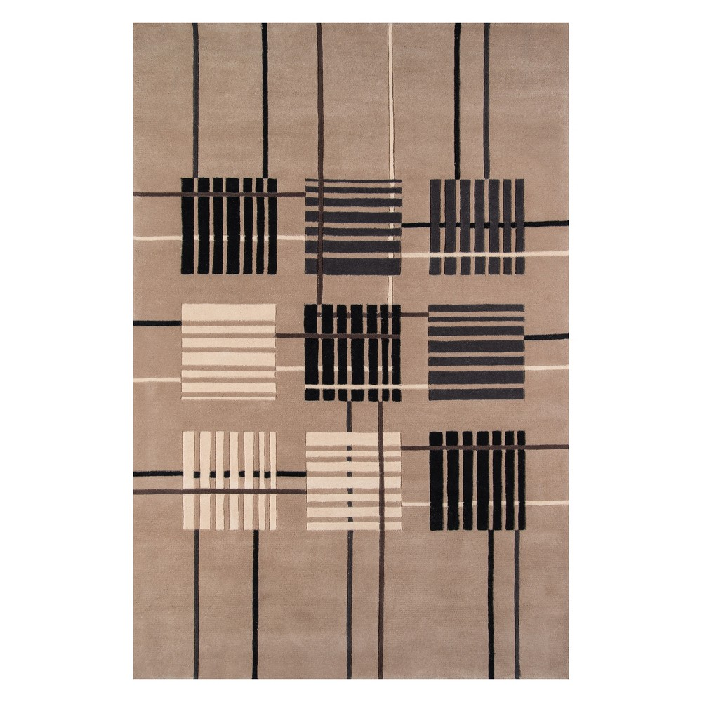 2'X3' Geometric Tufted Accent Rug Sand - Momeni, White