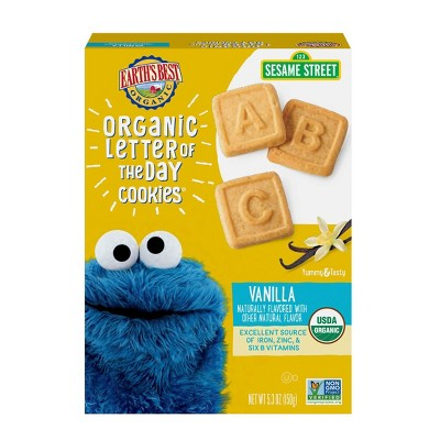 Earth's Best Organic Vanilla Letter of the Day Cookies - 5.3oz