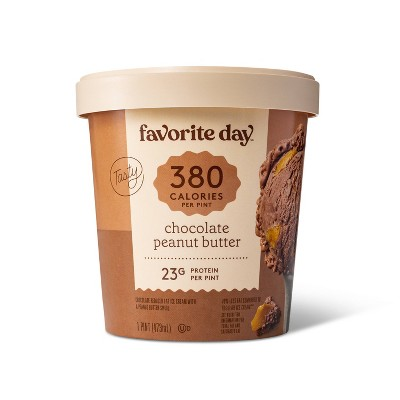 Reduced Fat Chocolate with Peanut Butter Swirl Ice Cream - 16oz - Favorite Day™