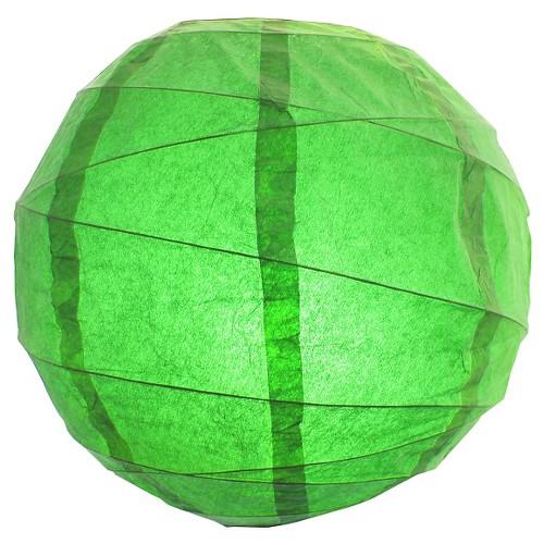 5ct 12 Crisscross Paper Led Lanterns Green
