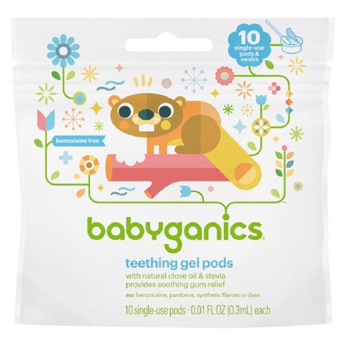 Babyganics Teething Gel Pods - 10ct - image 1 of 3