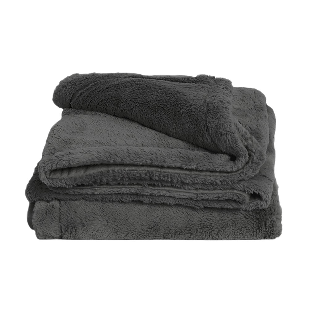 "Image of ""50"""" x 70"""" Viscose from Bamboo Plush Throw Blanket Onyx - Cariloha, Black"""