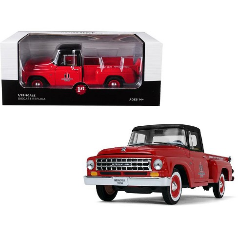 International C1100 Trucks Pickup Truck Red With Black Top 1 25 Cast Model By First Gear Target