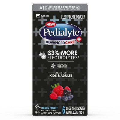 Pedialyte Advanced Care Electrolyte Powder - Berry Frost - 6ct