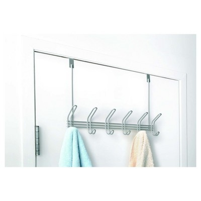 Over-the-Door Hook Rack 6 Hook Satin - Totally Bath