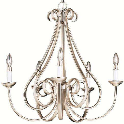 """Kichler 2021 Dover 5 Light 26"""" Wide Candle-Style Chandelier - image 1 of 1"""