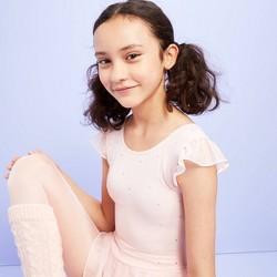 Girls' Dancewear Flutter Sleeve Leotard with Skirt - More Than Magic™ Pink