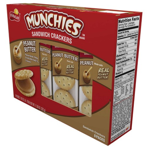 Frito Lay Munchies Peanut Butter Sandwich Crackers - 11.36oz/8pk - image 1 of 4