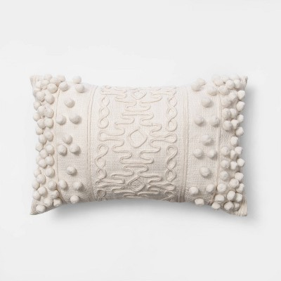 Oblong Pom Throw Pillow Cream - Opalhouse™
