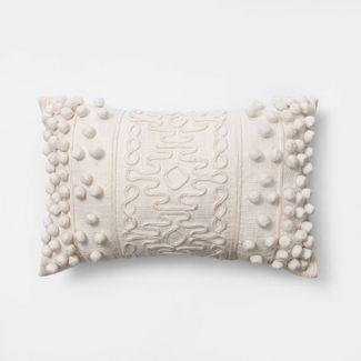Oblong Pom Throw Pillow Cream - Opalhouse™