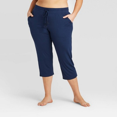 Women's Plus Size Beautifully Soft Crop Pajama Pants - Stars Above™ Navy 2X