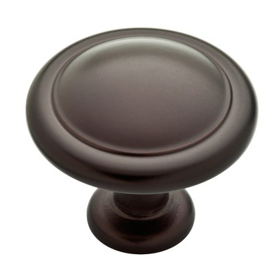 "Franklin Brass 25pk 1-1/4"" (32mm) Round Ringed Knob Dark Bronze"