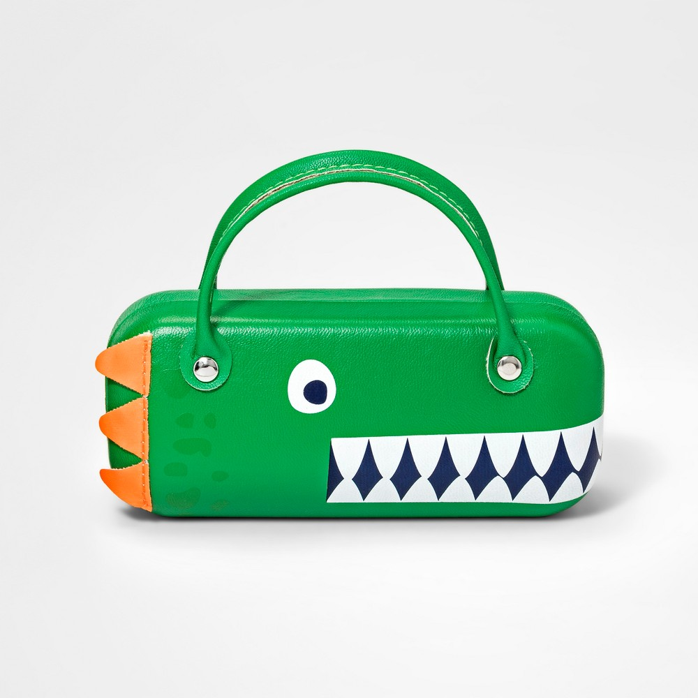 Image of Girls' Dinosaur Sunglass Case - Cat & Jack Green