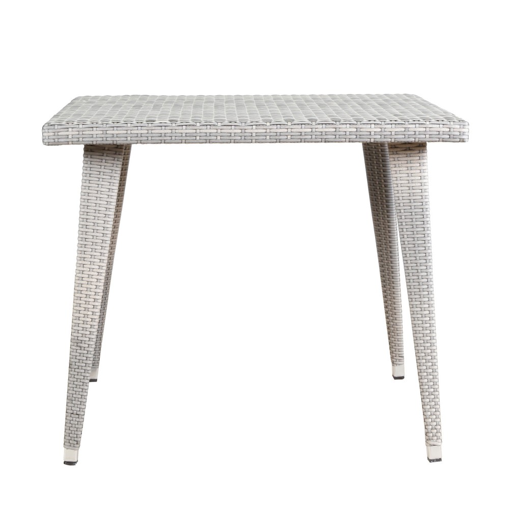 Armstrong Square Wicker Dining Table - Chateau Gray - Christopher Knight Home
