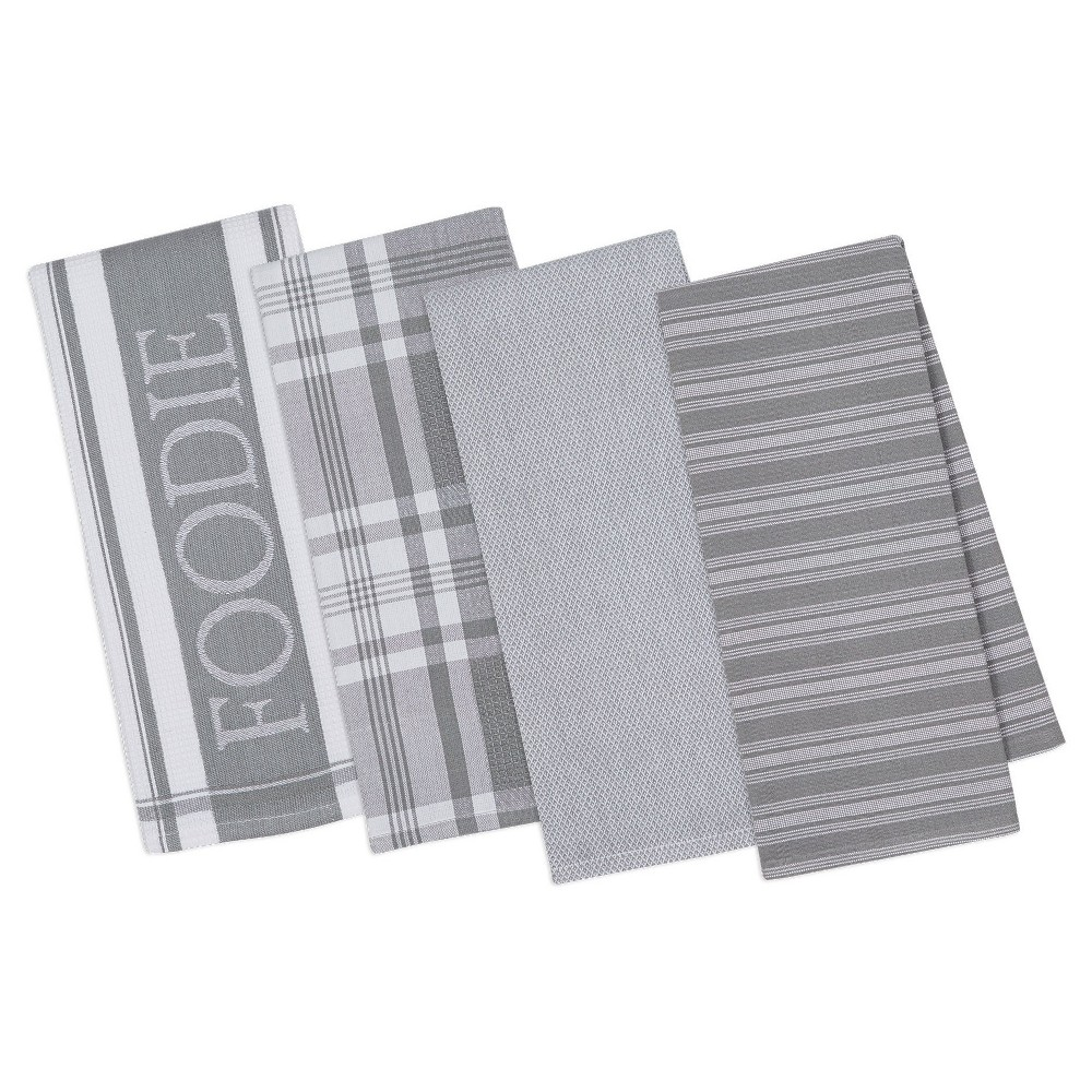 Granite Gourmet Kitchen Dishtowels Set Of 4 - Design Imports, Gray
