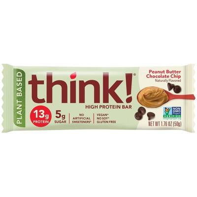 think! Plant Peanut Butter Chocolate Chip Singer Bar - 1.76oz