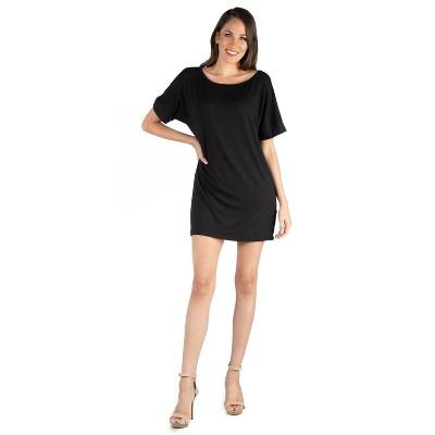 24seven Comfort Apparel Women's Loose Fit T Shirt Dress