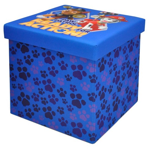 "PAW Patrol Blue Collapsible Storage Ottoman (15""x15"") - image 1 of 1"